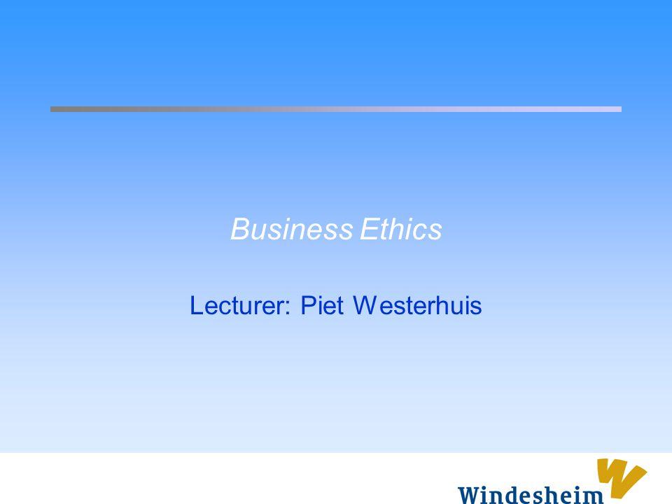 Lecturer: Piet Westerhuis