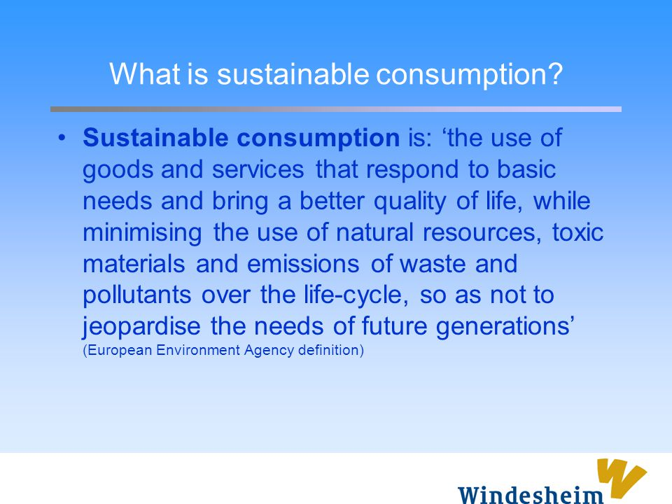 What is sustainable consumption