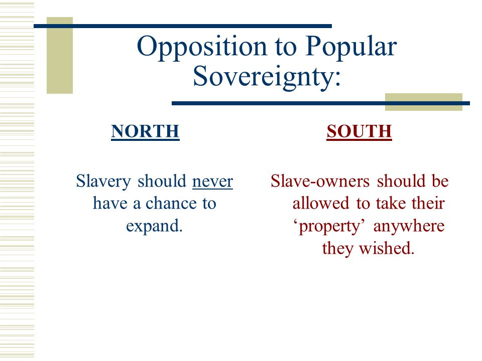Opposition to Popular Sovereignty:
