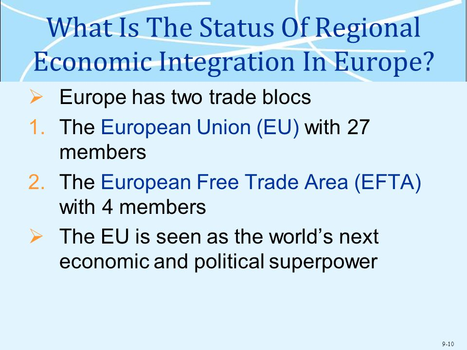 What Is The Status Of Regional Economic Integration In Europe