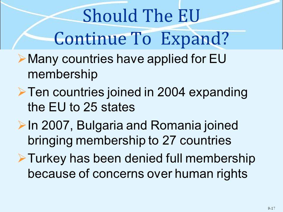 Should The EU Continue To Expand