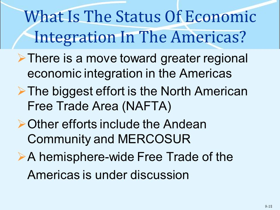 What Is The Status Of Economic Integration In The Americas