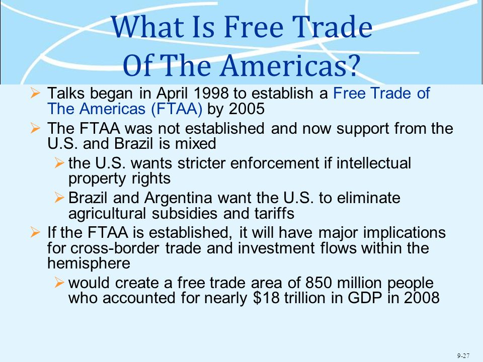 What Is Free Trade Of The Americas