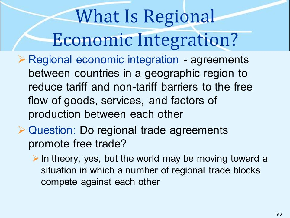 What Is Regional Economic Integration