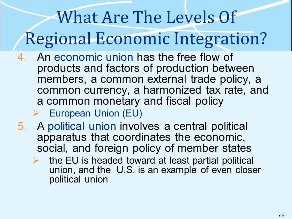What Are The Levels Of Regional Economic Integration