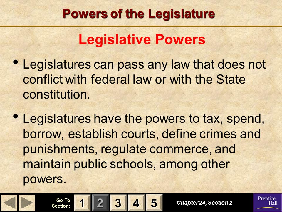 Powers of the Legislature
