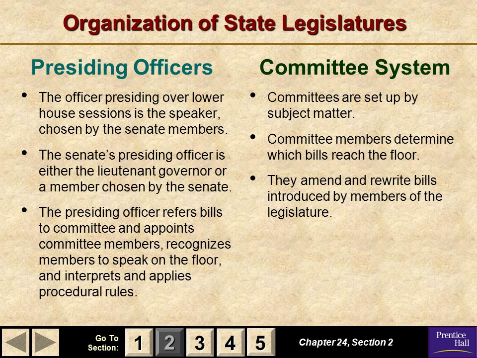 Organization of State Legislatures