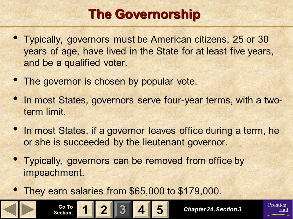 The Governorship
