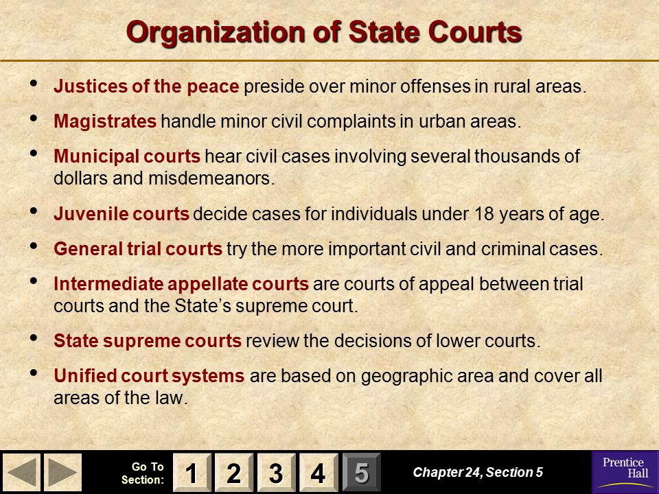 Organization of State Courts