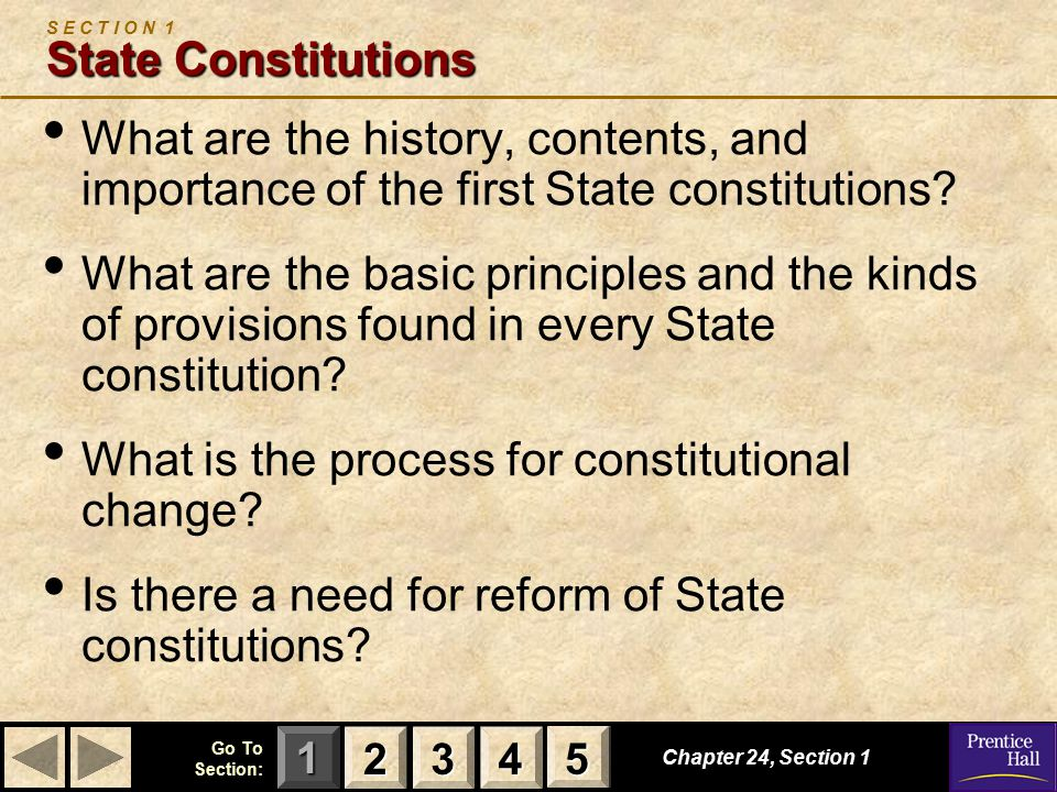 S E C T I O N 1 State Constitutions