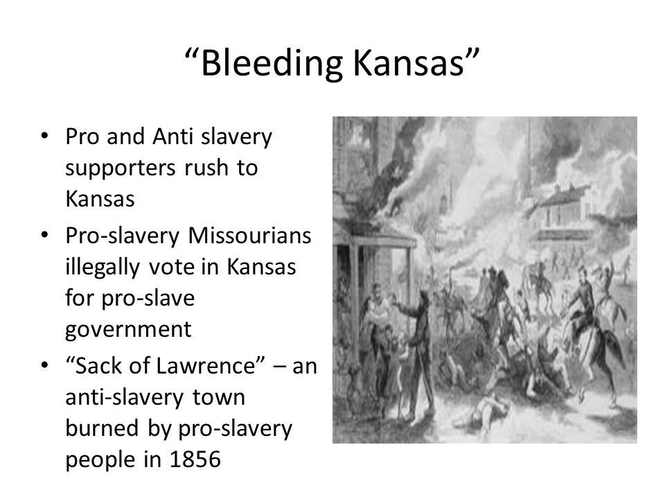 Bleeding Kansas Pro and Anti slavery supporters rush to Kansas