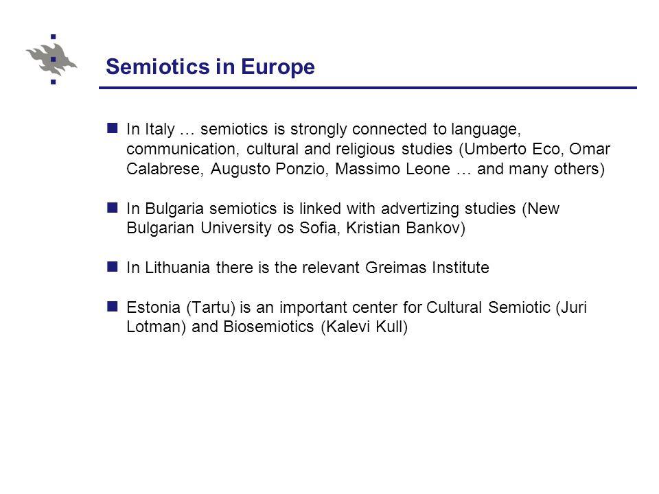 Semiotics in Europe