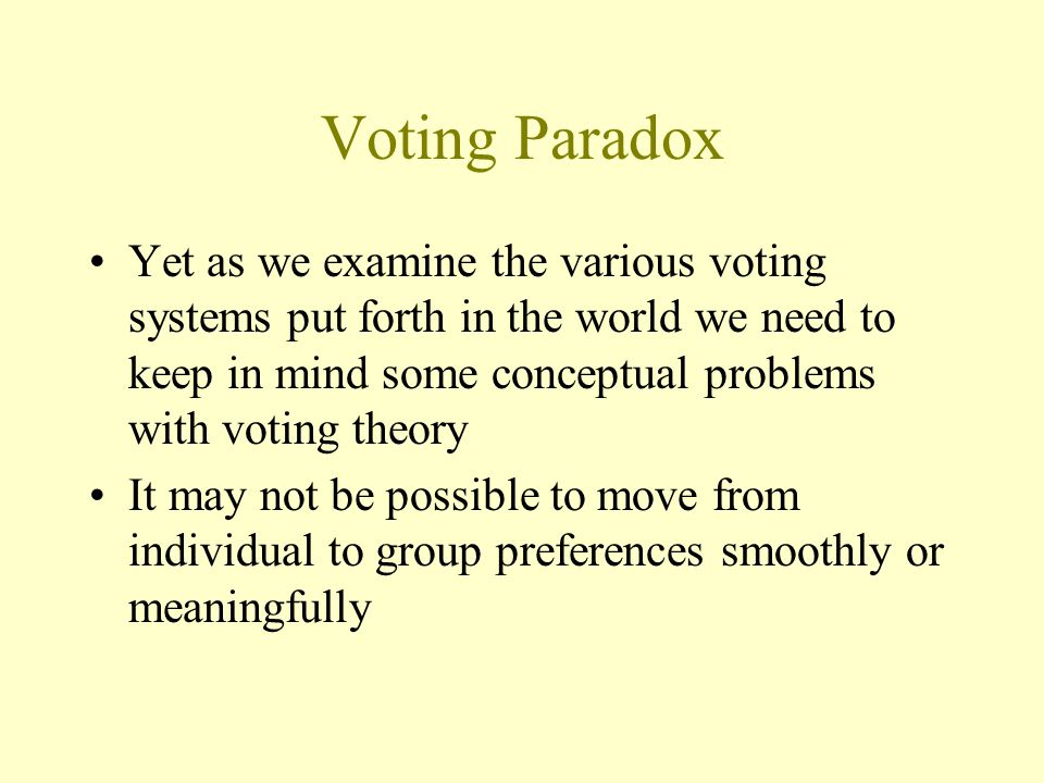 Voting Paradox