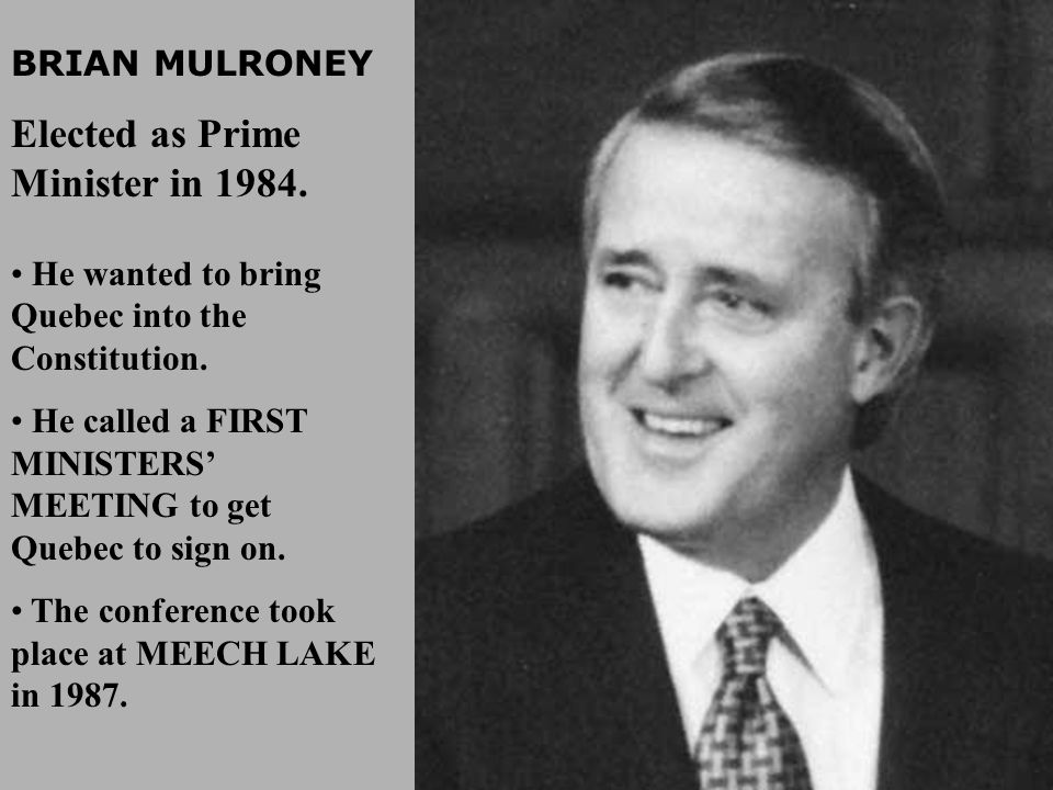 Elected as Prime Minister in 1984.
