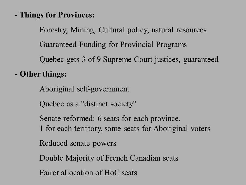 - Things for Provinces: