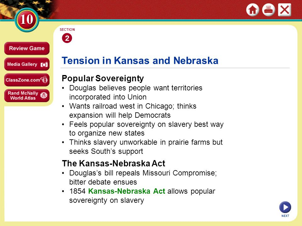 Tension in Kansas and Nebraska