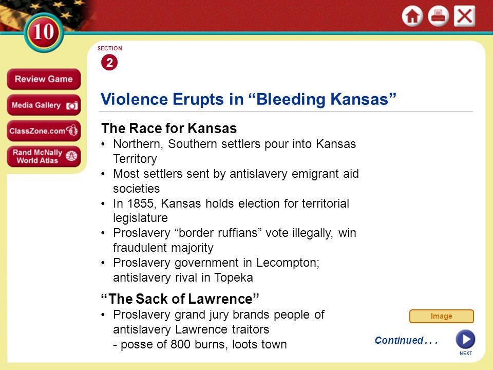 Violence Erupts in Bleeding Kansas