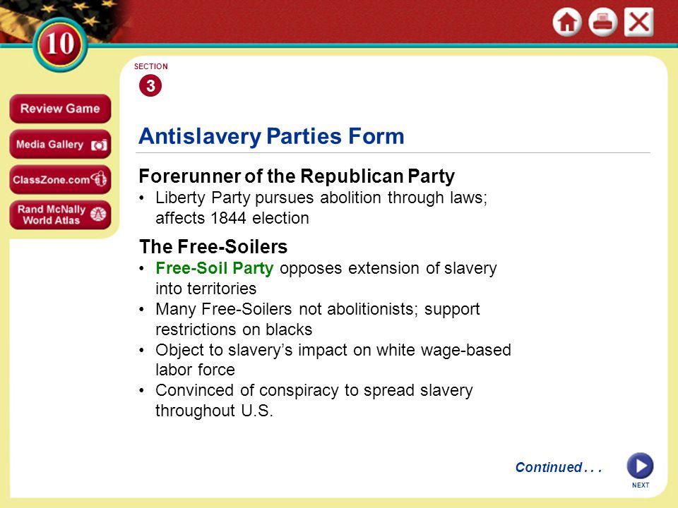Antislavery Parties Form