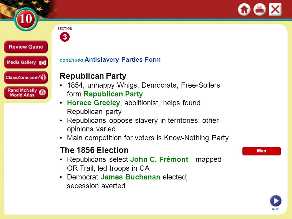 Republican Party The 1856 Election 3