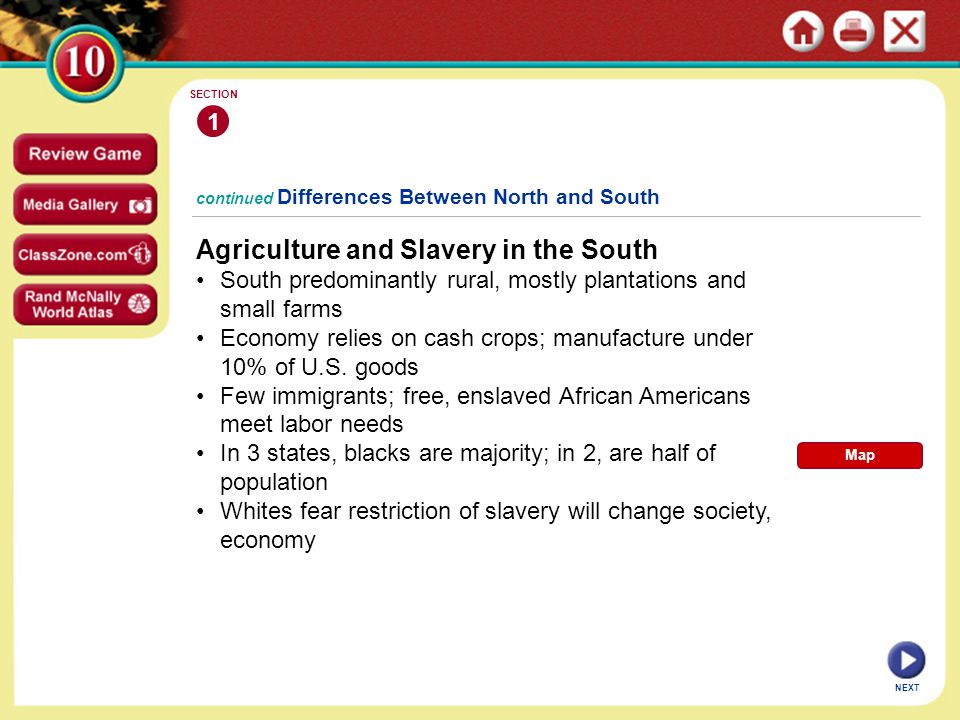 Agriculture and Slavery in the South