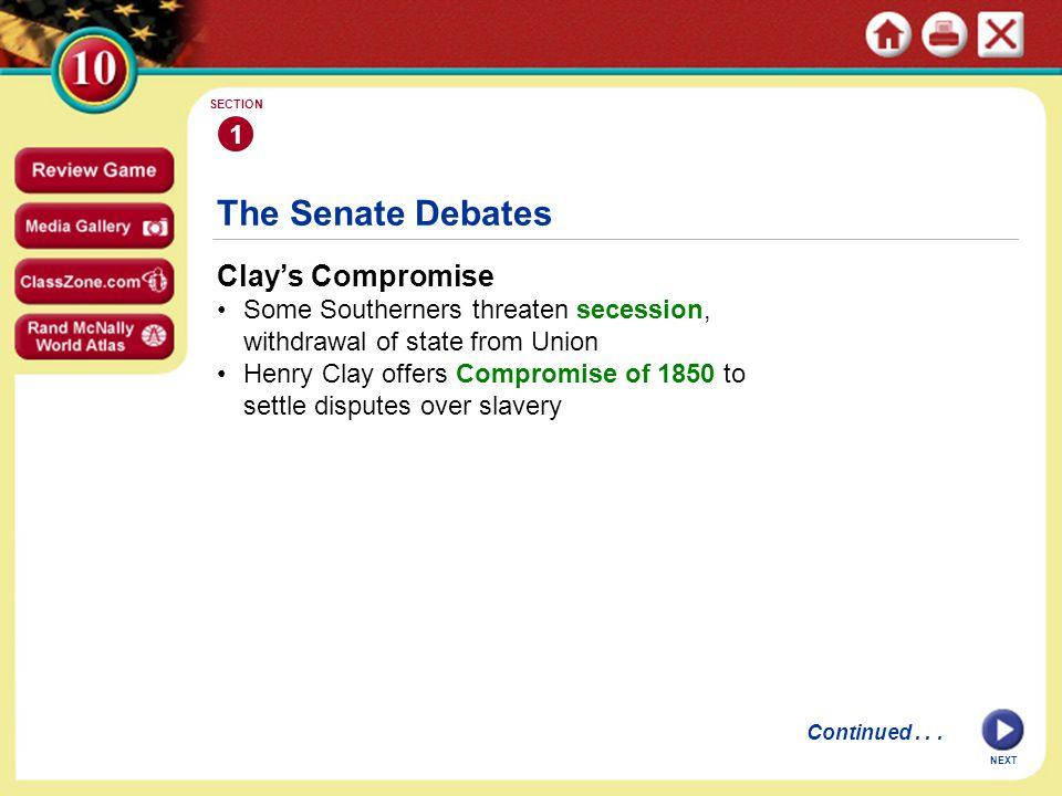 The Senate Debates Clay's Compromise 1