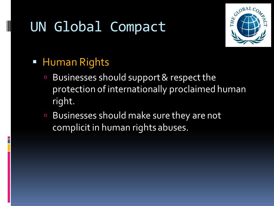 UN Global Compact Human Rights