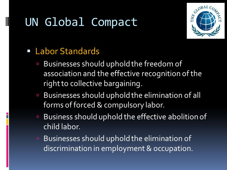 UN Global Compact Labor Standards