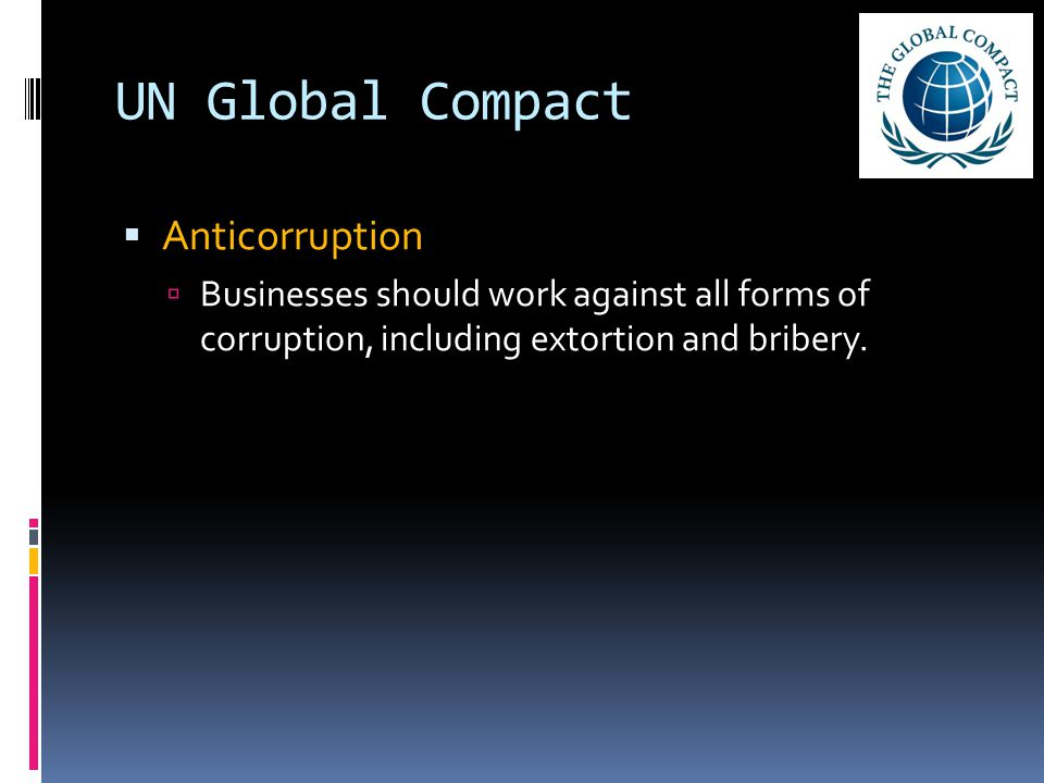 UN Global Compact Anticorruption