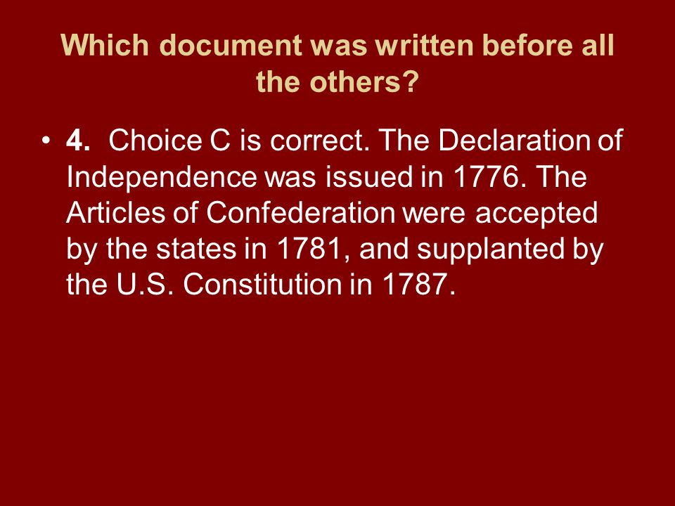Which document was written before all the others