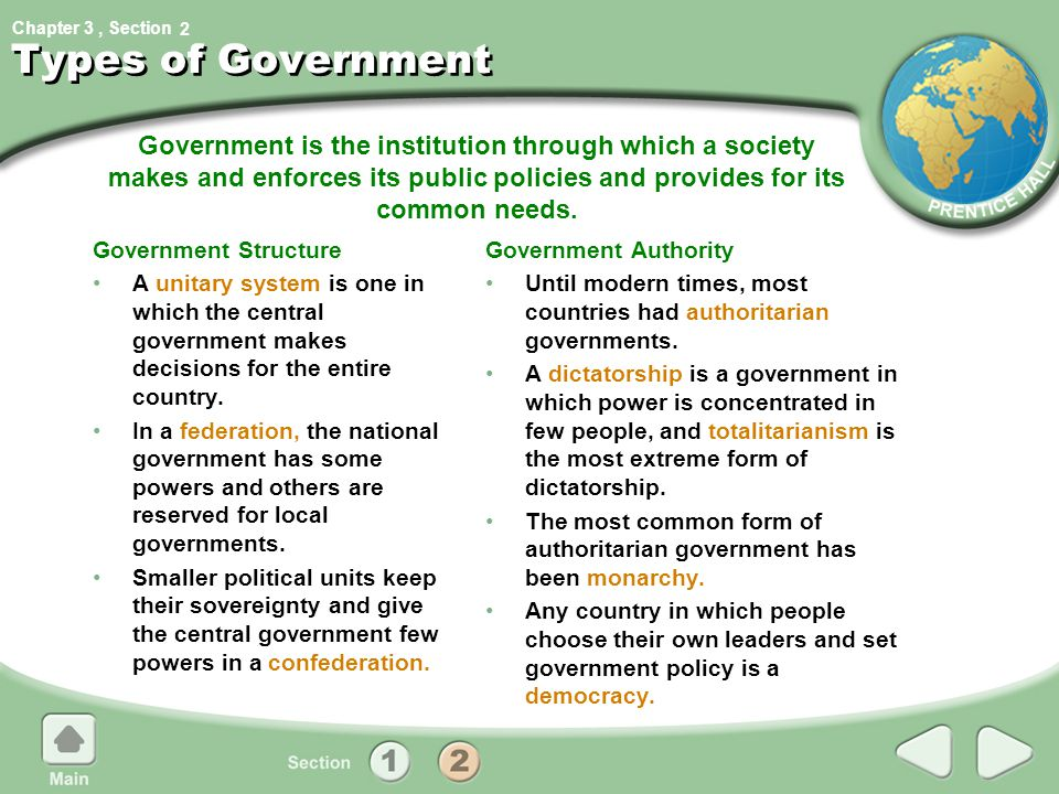 2 Types of Government.