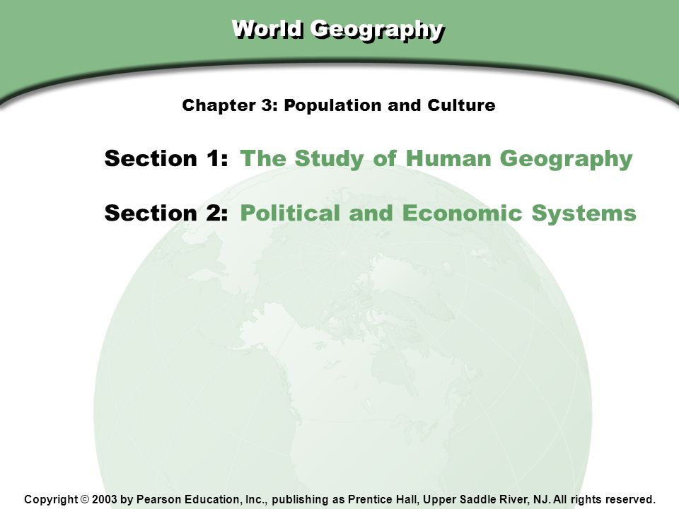 Chapter 3: Population and Culture