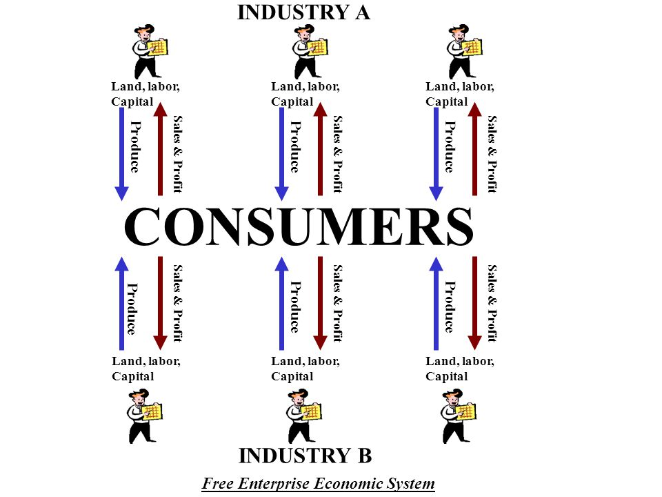 CONSUMERS INDUSTRY A INDUSTRY B Free Enterprise Economic System