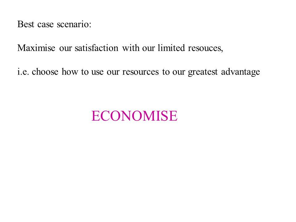 ECONOMISE Best case scenario: