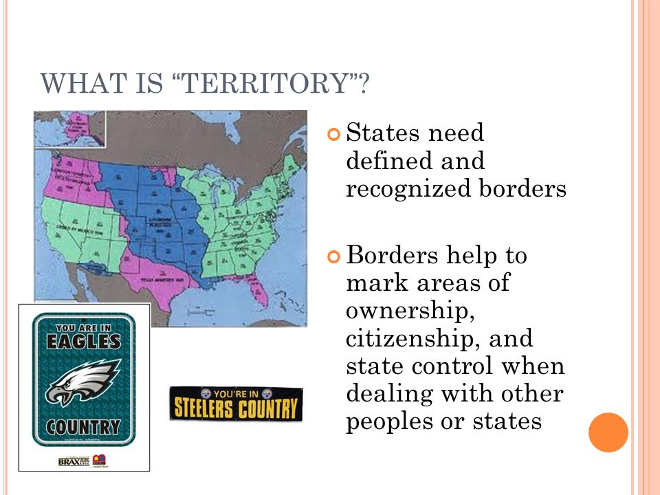 WHAT IS TERRITORY States need defined and recognized borders
