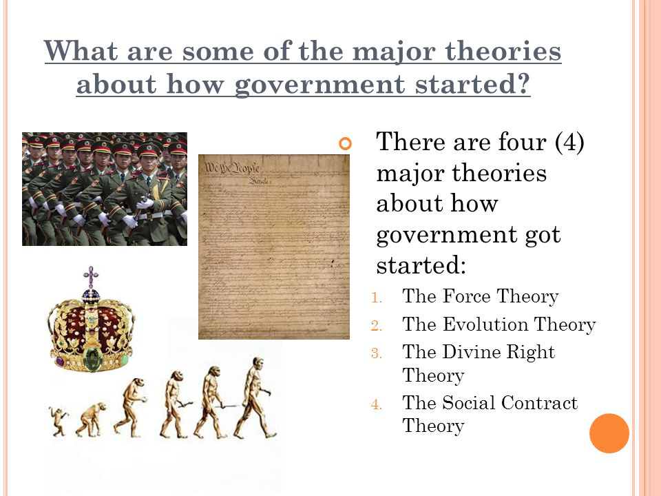 Main theories that explain the politic