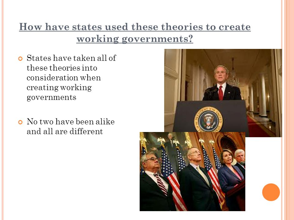 How have states used these theories to create working governments