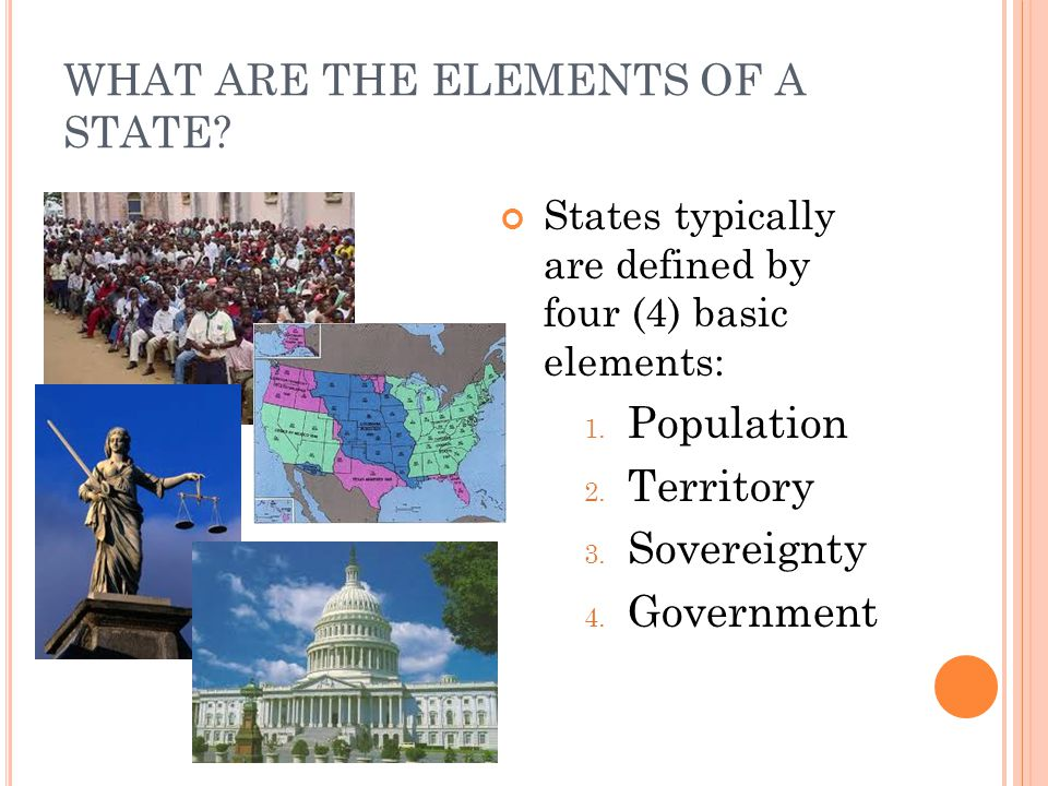 WHAT ARE THE ELEMENTS OF A STATE
