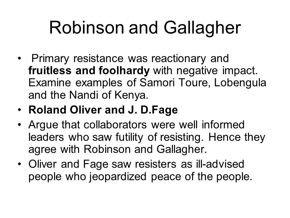 Robinson and Gallagher