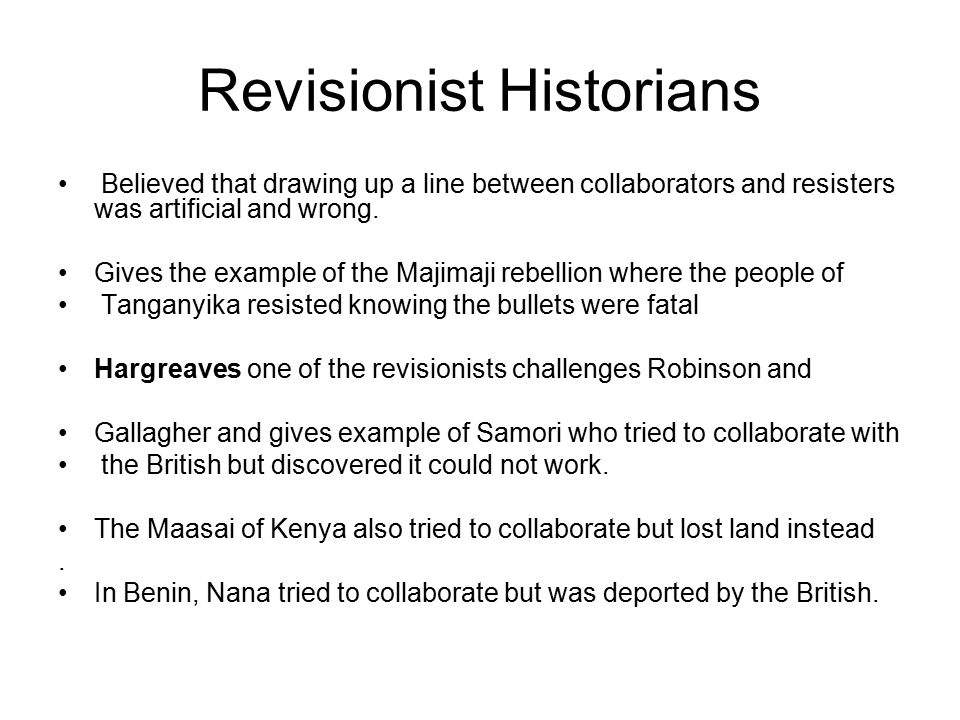 Revisionist Historians