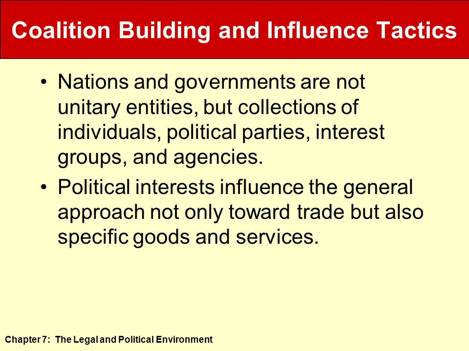 Coalition Building and Influence Tactics