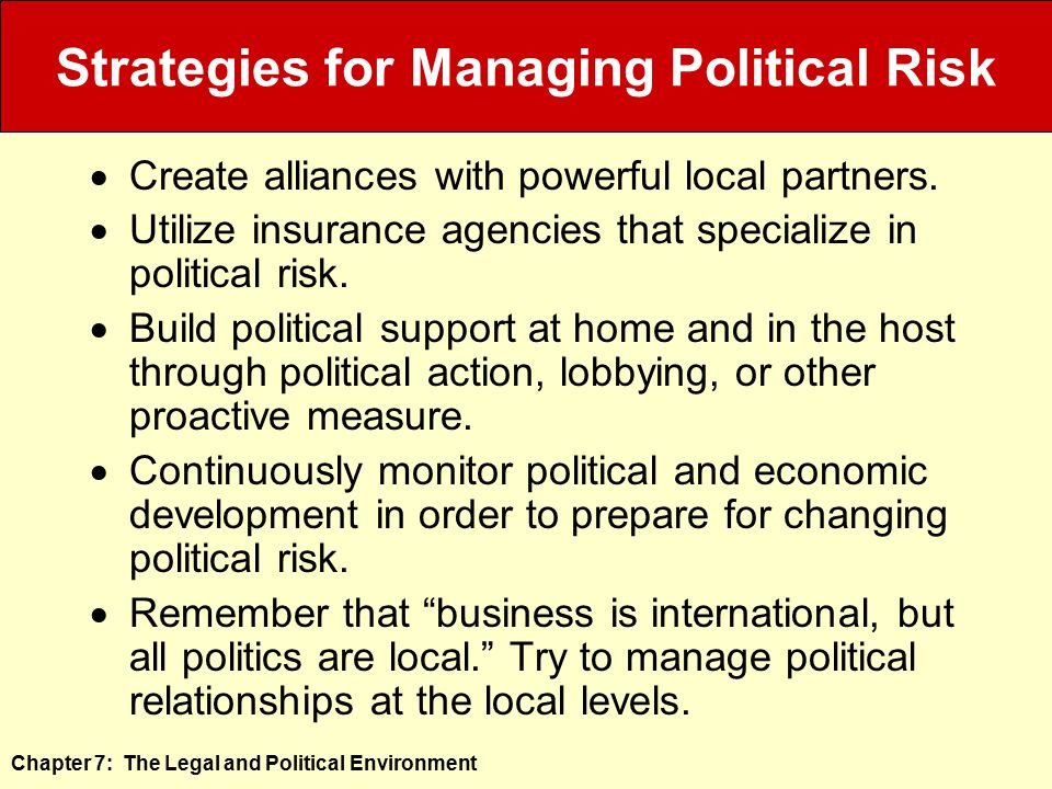 Strategies for Managing Political Risk