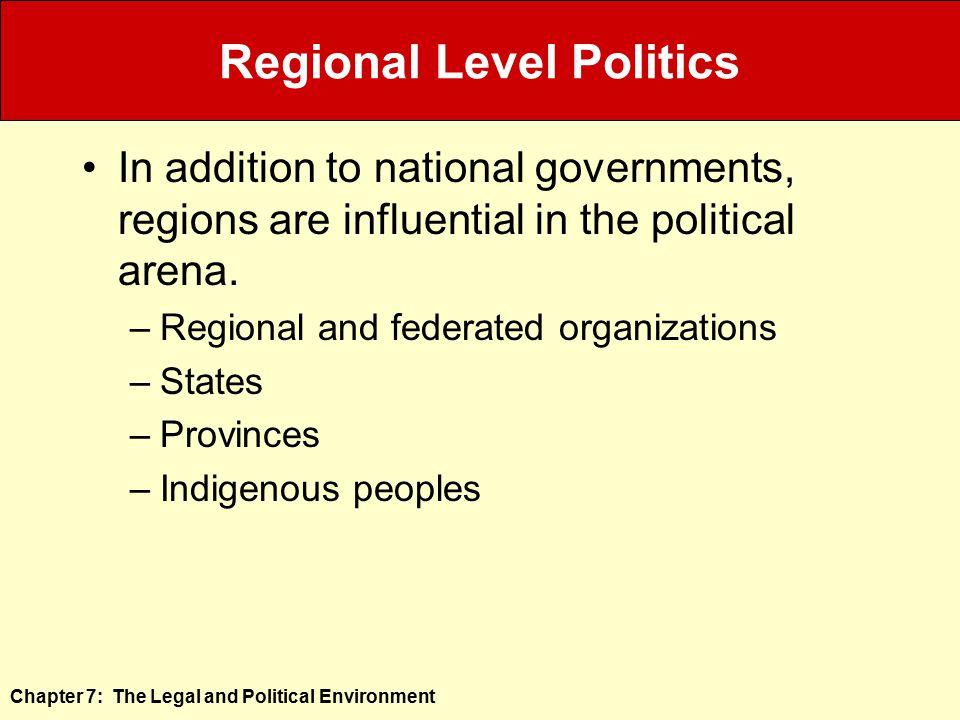 Regional Level Politics