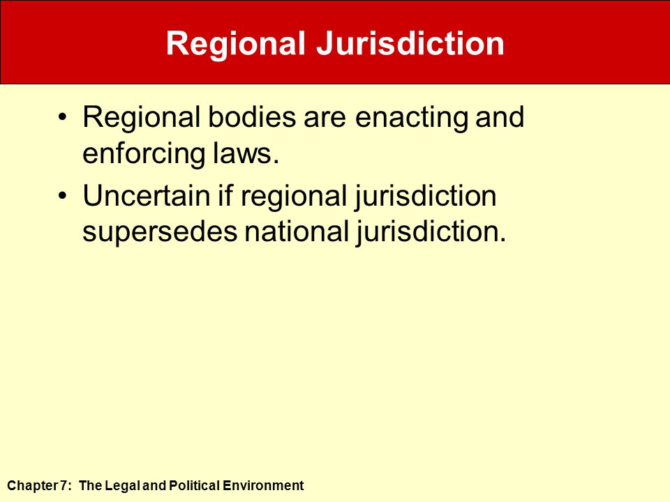 Regional Jurisdiction