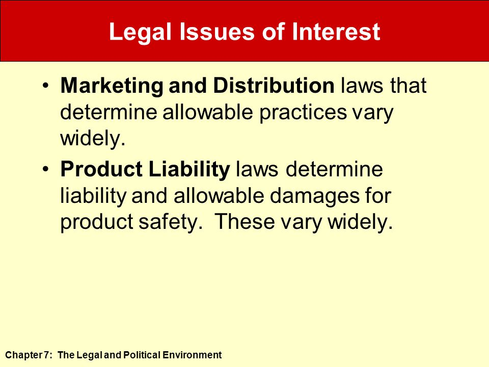 Legal Issues of Interest