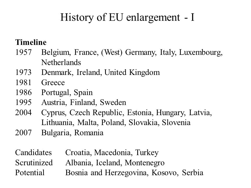 History of EU enlargement - I