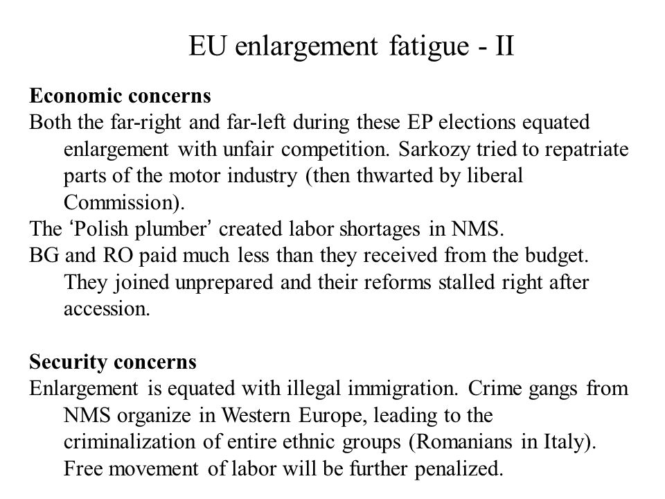 EU enlargement fatigue - II