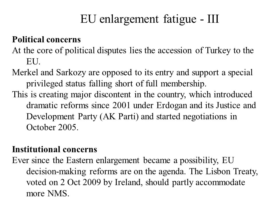 EU enlargement fatigue - III