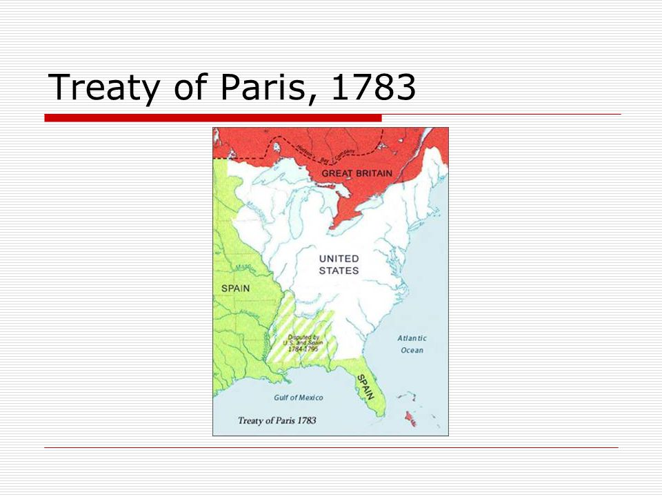 Treaty of Paris, 1783