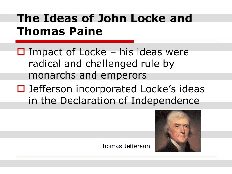 The Ideas of John Locke and Thomas Paine