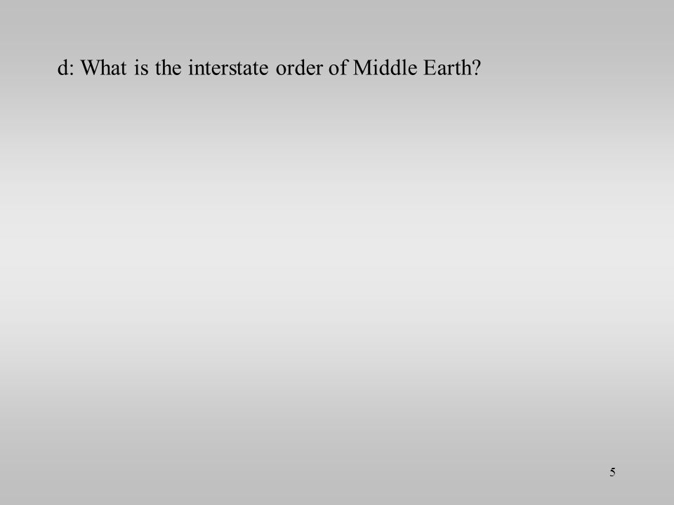 d: What is the interstate order of Middle Earth